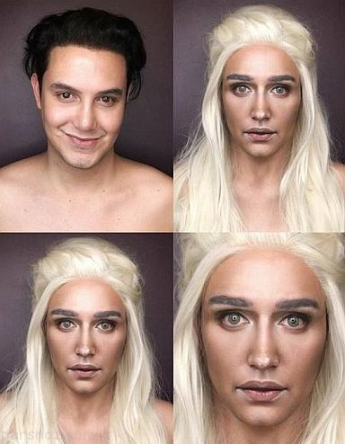 مردی با گریم های باورنکردنی شبیه بازیگران زن