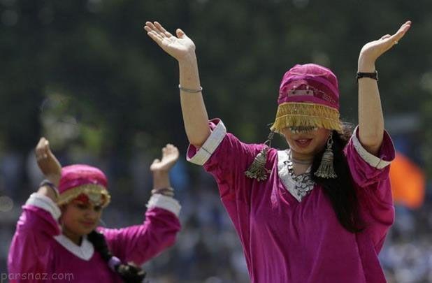 تصاویر جالب دختران هندی در سالگرد استقلال هند