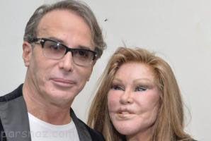 ازدواج زن گربه ای 70 ساله با مرد جوان تر از خودش