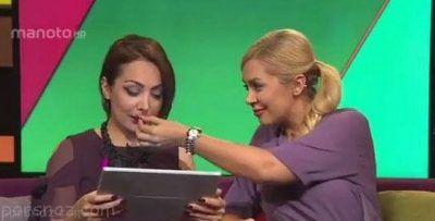 ملخ خوردن مجری های زن در برنامه زنده تلویزیونی
