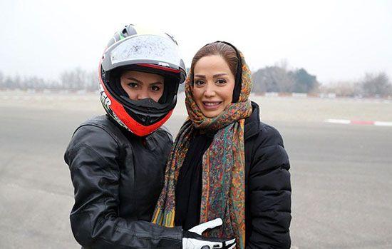 بهناز شفیعی موتور سوار زن مشهور ایرانی +عکس