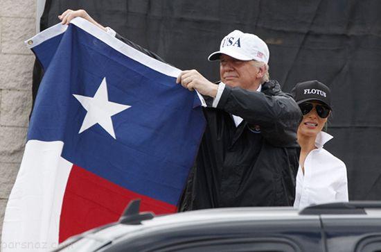سفر دونالد ترامپ و ملانیا به ایالت تگزاس +عکس