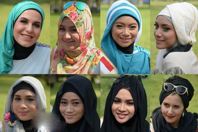 مسابقات ملکه زیبایی دختران محجبه در مالزی