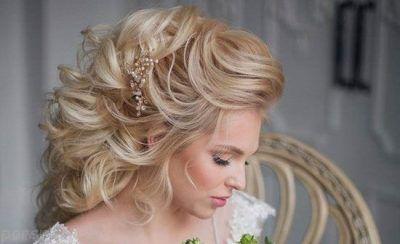 جدیدترین آرایش و شینیون مو عروس 2017