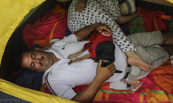 خوابیدن کلمبیایی ها در خیابان در روز جهانی تنبلی