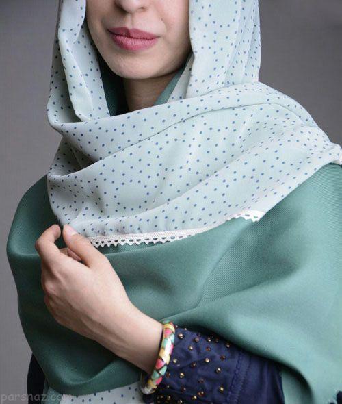 مدل شال و روسری حریر ایرانی برند هارمونیکا