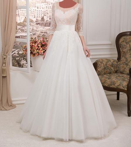 مدلهای لباس عروس آستین بلند به سبک اروپایی