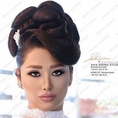 مدل آرایش عروس ایرانی | میکاپ | شینیون | تاج عروس