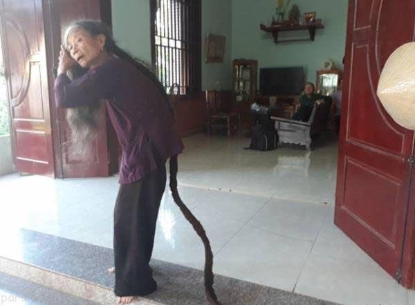 موهای باورنکردنی این پیر زن +عکس