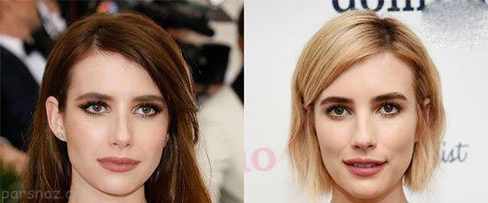 تغییرات مدل موی ستاره های مشهور در سال 2017