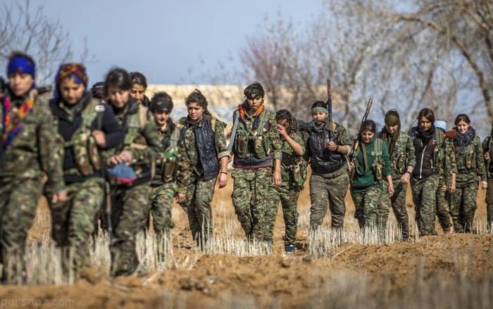 تصاویر دختران پیشمرگ کرد در جدال با داعش
