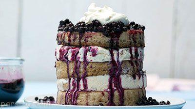 روش تهیه پنکیک و بستنی خوشمزه و عالی