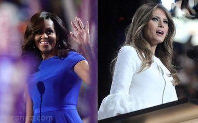 تفاوت های تیپ و استایل ملانیا ترامپ و میشل اوباما