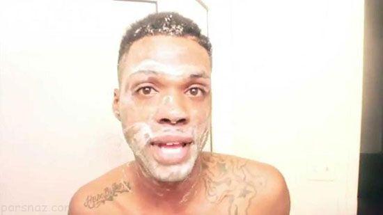 این مرد سیاه پوست با صابون سفید پوست شد
