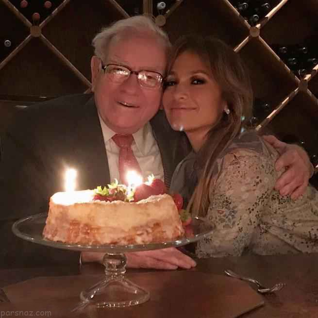 جنیفر لوپز و نامزدش در تولد پولدارترین ها