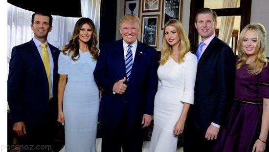 با فرزندان خانواده دونالد ترامپ کاملا آشنا شوید