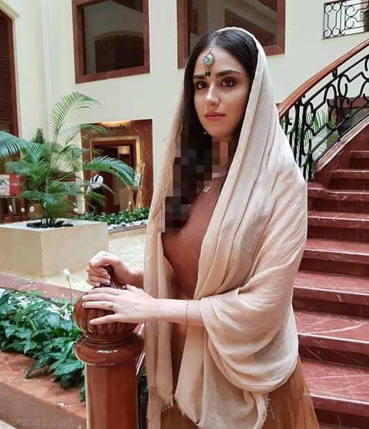 هانیه غلامی بازیگر جوان ایرانی با لباس هندی