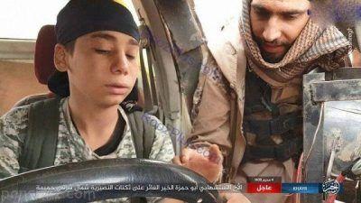 کودک انتحاری داعش قبل از انجام عملیات +عکس