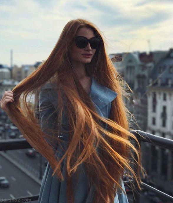 رشد عجیب موی دختر روسی زیبا پس از کچلی