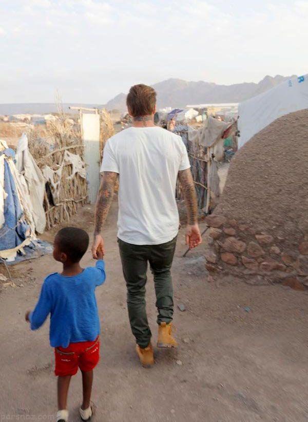 خفن ترین عکس ها از سفرهای دیوید بکهام دور دنیا