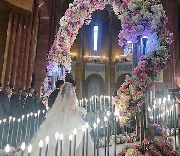 عروس زیبا در گرانترین مراسم ازدواج تاریخ روسیه