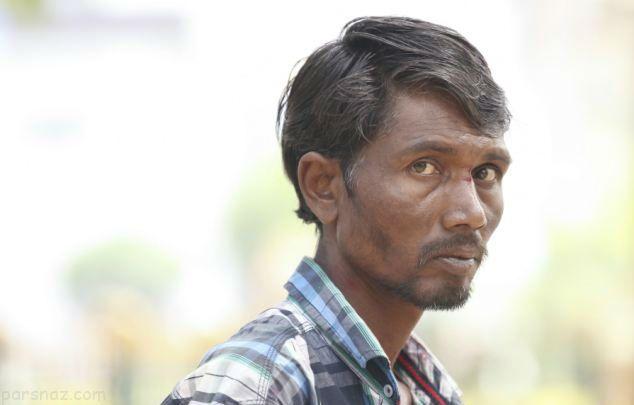 مرد هندی که عاشق خوردن آجر است +عکس