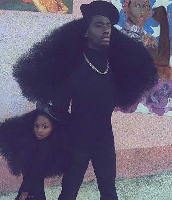 مدل موی عجیب این دختر و پدر جنجالی شد +عکس