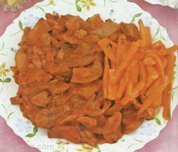 آموزش درست کردن چلو گوشت گیاهی با هویج