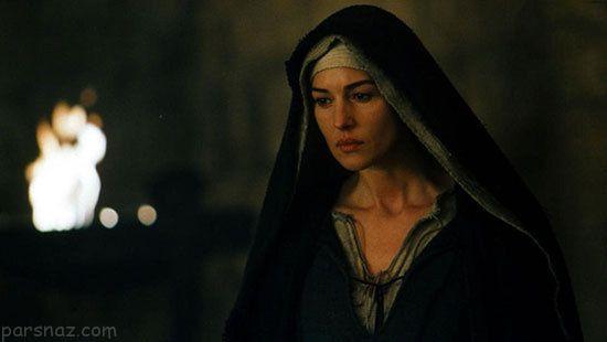 مونیکا بلوچی هنرپیشه مشهور و الهه دنیای مد