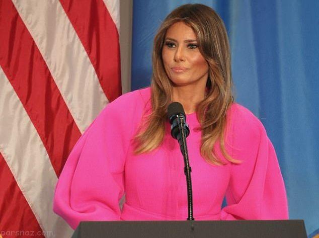 ملانیا ترامپ کاخ سفید را کلا به رنگ صورتی درآورد