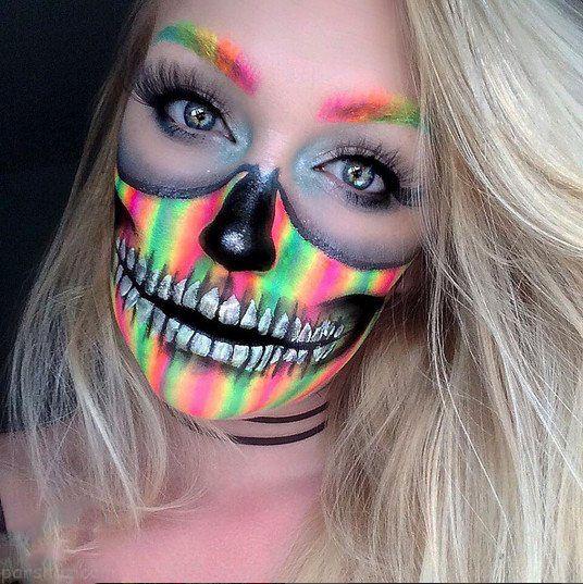 جشن هالووین و گریم های ترسناک روی صورت +عکس