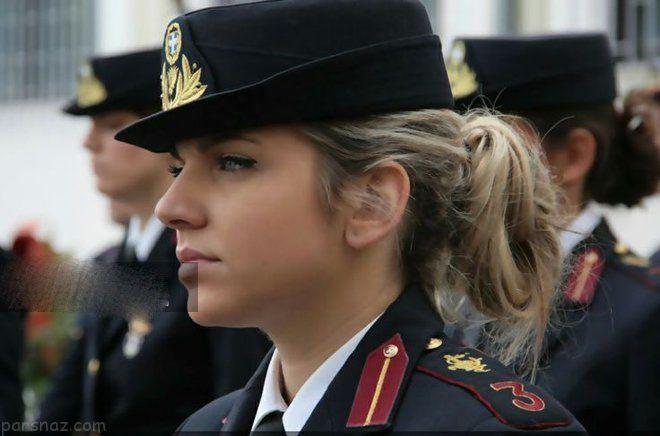 زیباترین دختران جهان در خدمت ارتش های نظامی