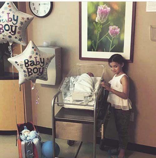 پسر بنیامین بهادری در آمریکا به دنیا آمد +عکس