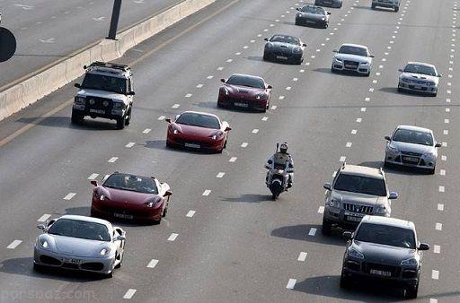 رالی لوکس ترین خودروهای دنیا در دوبی