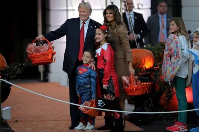 ملانیا ترامپ در جشن هالووین کاخ سفید +عکس