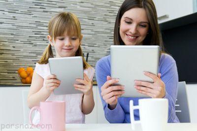برخورد با کودکانی که مدام با تبلت و موبایل بازی می کنند
