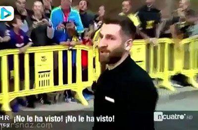 بی محلی لیونل مسی به رضا پرستش در بارسلونا جنجالی شد