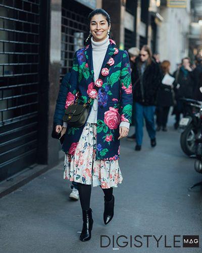 مد پاییز 2017 و پنج روش برای پوشیدن استایل گلدار زنانه