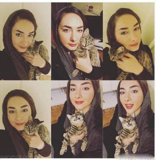مرگ گربه هانیه توسلی جنجال به پا کرد +عکس