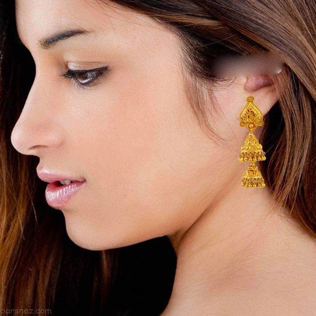 مدل های جذاب گوشواره طلا هندی برند velvetcase