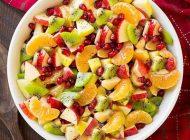 با میوه های پاییزی سالاد خوشمزه درست کنیم