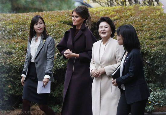 حاشیه های سفر ملانیا و دونالد ترامپ به کره جنوبی