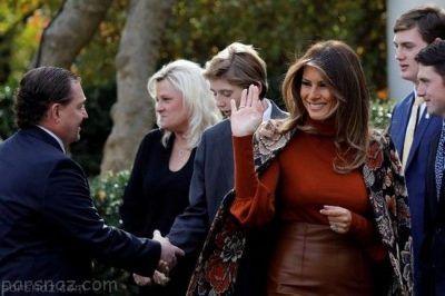 دونالد ترامپ و خانواده اش در مراسم عجیب عفو بوقلمون