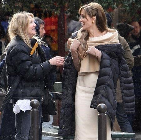 آنجلینا جولی با نامزد جدیدش در شهر عشق فرانسه