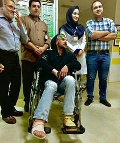 حادثه دردناک برای امین حیایی +آخرین وضعیت وی