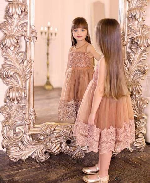 زیباترین دختر جهان با چشمانی خیره کننده +عکس