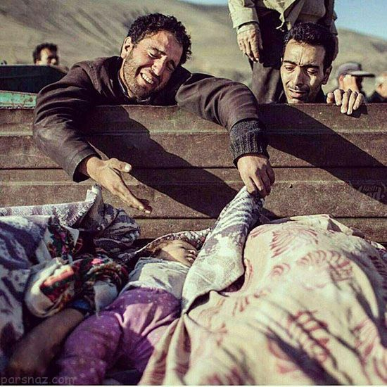 تلخ ترین عکس وداع پدر کرمانشاهی با فرزند 1 ساله اش
