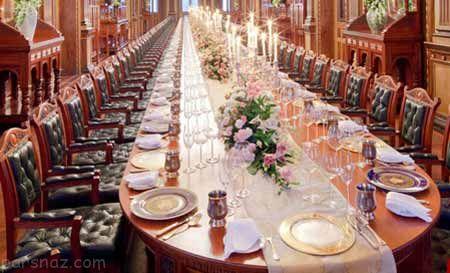 لوکس ترین میز شام جهان برای ایوانکا ترامپ +عکس