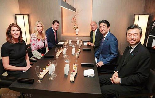 جشن تولد ایوانکا ترامپ در کنار نخست وزیر ژاپن