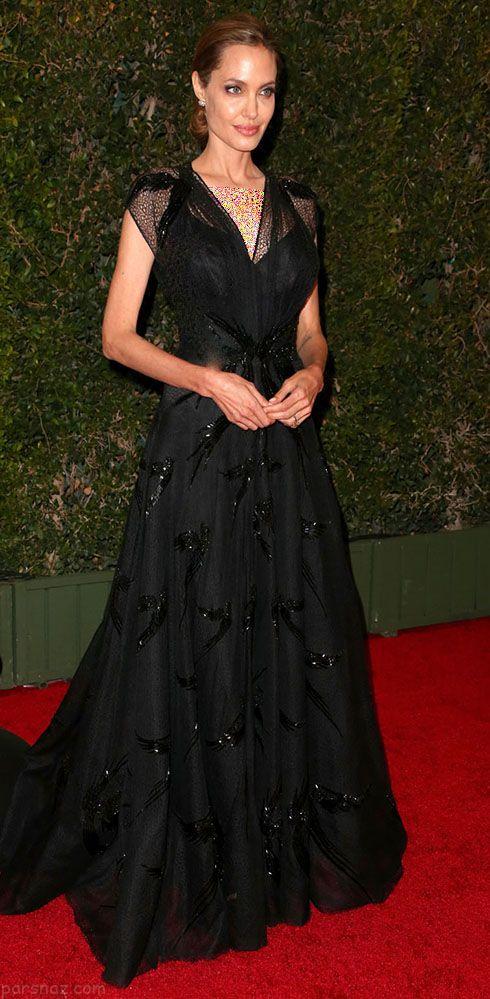 مدل لباس و استایل آنجلینا جولی در مراسم Governors